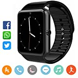 Smartwatch Damen Herren-CatShin CS03 Sport Uhr Fitnessuhr Fitness Tracker Intelligente Armbanduhr Smart Watch mit Kamera Schrittzähler Schlaftracker Pulsmesser Kompatibel mit Android/IOS(SCHWARZ)