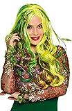 Karneval-Klamotten Waldfee-Perücke grün Damen-Perücke Waldfee Fee Elfe Perücke mit Blättern