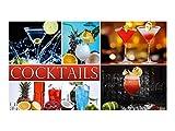 graz-design Wandsticker Aufkleber Wandspruch für Küche Schriftzug Cocktails Getränke Drinks (105x60cm)