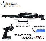 efaso FT011 - RC Brushless Racing Boot Feilun - 2.4 GHz 4-Kanal Rennboot mit 65 cm Rumpflänge