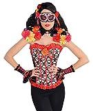 Faschingsfete Kostüm Karneval Maske Day of the Dead Sugar Skull, Mehrfarbig