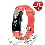 Letsfit Fitness Armband mit Pulsmesser Fitness Tracker Farbbildschirm Schrittzähler mit 14 Trainingsmodi IP68 Wasserdicht Akt