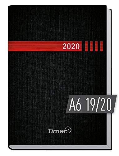 Chäff-Timer Mini A6 Kalender 2019/2020 [schwarz-rot] Terminplaner 18 Monate: Juli 2019 bis Dez. 2020 | Wochenkalender, Organizer, Terminkalender mit Wochenplaner - Top organisiert durchs Jahr!