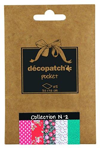 Decopatch Tasche Nr. 2 mit 5 verschiedenen Papieren