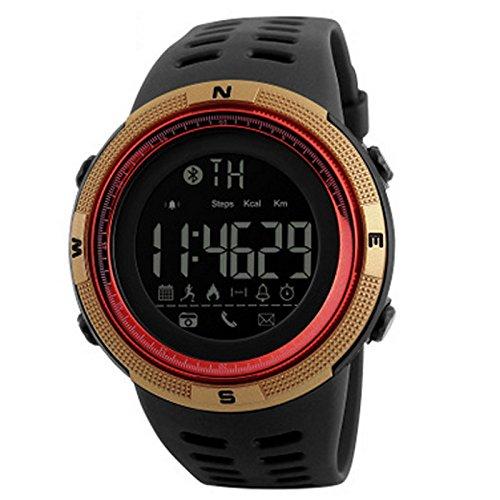 Der Outdoor-Mode Bluetooth Smart Meter Schritt erinnert die Uhr an die ios Android Mobile Smart Watch zu unterstützen. ( Farbe : Rot )