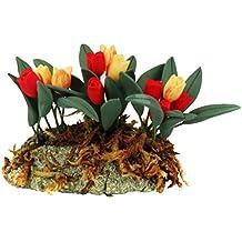 1/12 Dollhouse Miniatura Flor Tuplipán Decoración para Casa de Muñeca