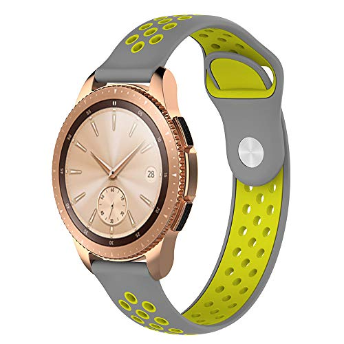 JiaMeng Pulsera Actividad Pulsera Impermeable Correa de muñeca de Silicona de 20 mm para Reloj Samsung Galaxy Reloj clásico de Pulsera 42MM(K)