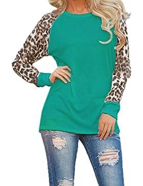 Camisetas Cuello Redondo Manga Larga Mujer Camiseta Interior Para Dama Camisas Estampadas Camisa Leopardo Top...