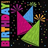 Neon Party Paper Napkins, Pack of 16
