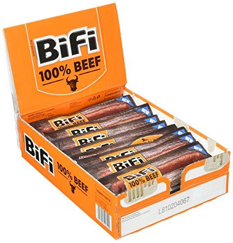 BiFi 100{5aabc2080e21d1c2c8299687800d25419ae6380b69a7bc45e68fd34670927ed3} Beef, 24er Pack (24 x 20 g)