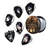 Black Veil Brides Set of 6 Loose Guitar Médiators in Tin ( Collection A )