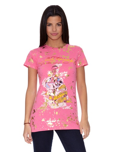 Ed Hardy T-Shirt Women´S S/S Crewneck Tee rosa L - Hardy Ed T-shirt