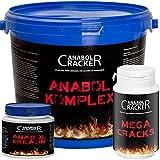 Anabol Komplex Eiweißpulver, 2,27 Kg Vanille oder Banane Proteinshake + Anabol Creatin, 300g Pulver + Mega Cracks, 90g Testo Booster