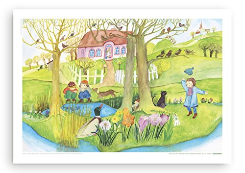 Poster fürs Kinderzimmer von Eva Maria Ott-Heidmann - Frühlingsbeginn vom schnurverlag