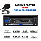 Lling(TM) autoradio stereo 1 DIN, 12 V, lettore DVD / CD / radio Bluetooth MP3 / USB / SD / TF / AUX / FM / AM / RDS con telecomando