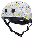 Kinder Fahrradhelm Twinkle star - weiß mit bunten Sternen Größe M von Coconuts
