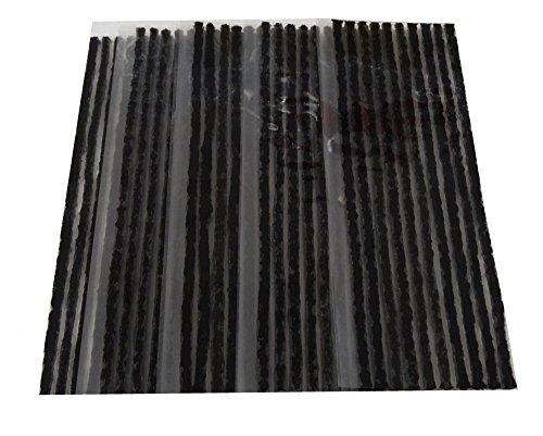 Aerzetix - 20 x strisce 4mm kit riparazione foratura ripara gomme pneumatici tubeless auto moto lunghe 50cm.