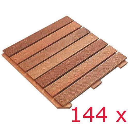 144 STÜCK PREMIUM HOLZFLIESE BANGKIRAI à 50 x 50 cm = 36 m²