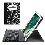 Fintie iPad 9.7 Zoll 2018 2017 / iPad Air 2 / iPad Air Bluetooth Tastatur Hülle Keyboard Case - Ultradünn leicht SlimShell Ständer Schutzhülle mit magnetisch abnehmbarer drahtloser deutscher Bluetooth Tastatur für Apple iPad 9,7'' 2018 / 2017, iPad Air 1 / 2, Notizblock Schwarz