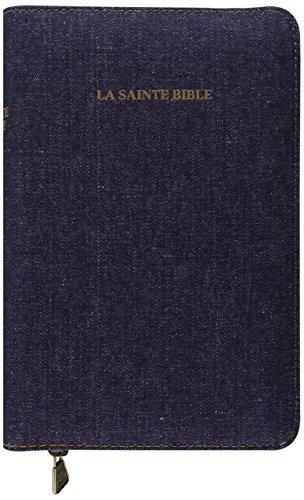 La Sainte Bible : couverture jean, onglets, glissire.