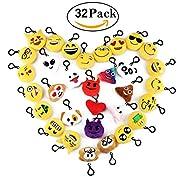 """Specifiche del prodotto: - Forma del prodotto: Rotondo - Materiale: Peluche - Formato circa: 2 """"/ 5cm ogni La confezione include: Una serie di 32 Emoji Emoticon chiave catena"""