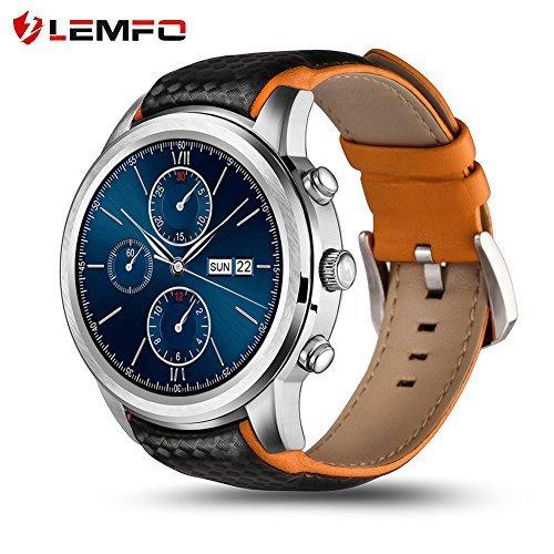 Lemfo reloj inteligente Android 5.1MTK6580Quad Core 1GB/8GB 3G WIFI GPS Monitor de...