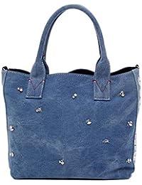 Pinko Borsa Shopping Donna 1H20GKY4CQE89 Cotone Blu cef1c1006d4
