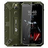 HOMTOM Zoji Z8 4G Smartphone Débloqué Portable( IP68 Waterproof - 4 GO RAM+64 GO ROM - 16MP + 13MP Dual Caméra 5.0 pouces - Android 7.0 MTK6750 1.5GHz Octa core - 4250mAh OTA OTG Fingerprint Empreinte Digitale GPS Dual Sim) - Armée Verte