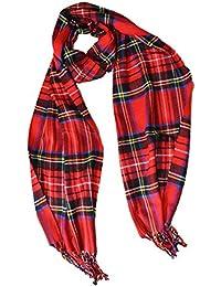 KGM Accessories Écharpe écossaise écossaise en Cachemire écossais pour  Homme et Femme Red Stuart 32202ecc7ac