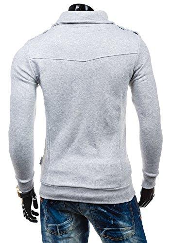BOLF – Sweat-shirt – Fermeture éclair– STX HUGO – Homme Gris