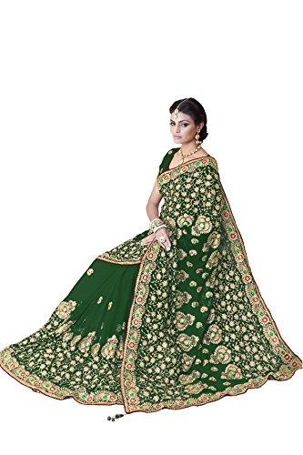 MirchiFashion Bollywood Frauen Braut Hochzeit Saree Mirchi Fashion Bestickt indischen Sari