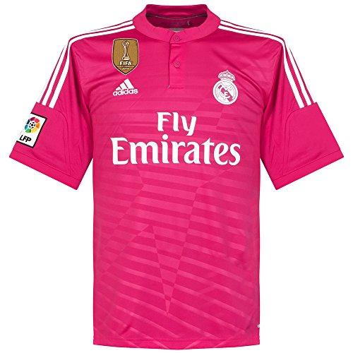 Magnífica sudadera Rosa del Real Madrid con capucha y cremallera. Adidas Real  Madrid C.F. Camiseta de fútbol 92faca987920f