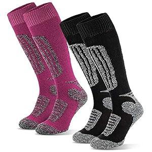Black Snake Damen Skisocken | Skistrümpfe | Sportsocken | Ski Funktionssocken | Sport Socken