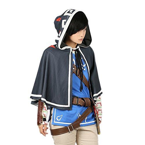 Link Kostüm Erwachsene Kapuzenmantel Unisex Kleidung Fancy Dress Merchandise Cape Cosplay für (Hoodie Zelda Legend Of Kostüm)