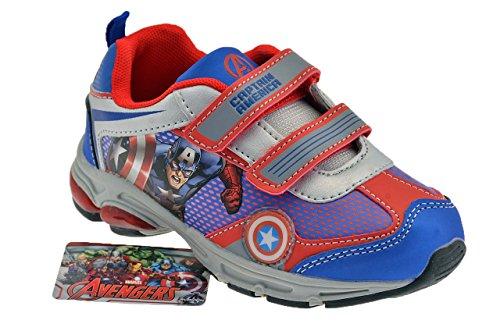 Avengers , Chaussures de ville à lacets pour garçon Bleu
