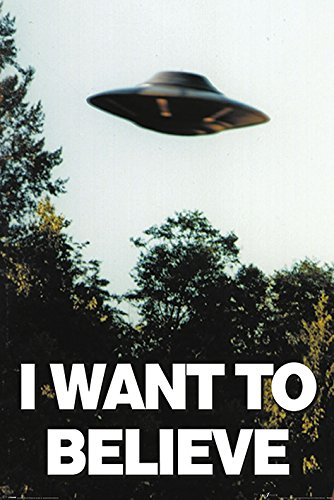 The X-Files PP33840 (I Want to Believe Affiche Maxi, Bois Dense, Multicolore, 61 x 91,5cm