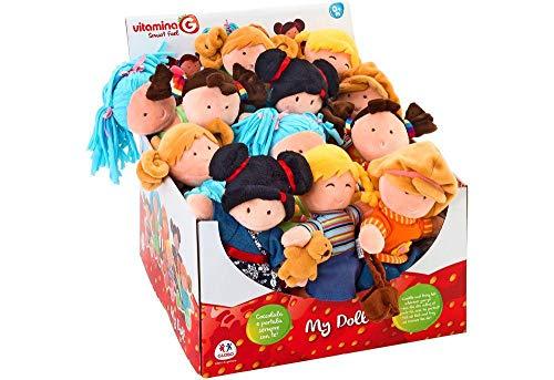 GLOBO- Fabric Doll 20Cm 6Asst 12 Piezas In D/Box (05230), (1)
