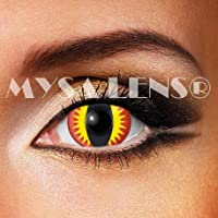 MYSA LENS® Mini Sclera 17MM Lentilles De Contact De Couleur Red Devil Dragon  Rouge 11c0462b19a0