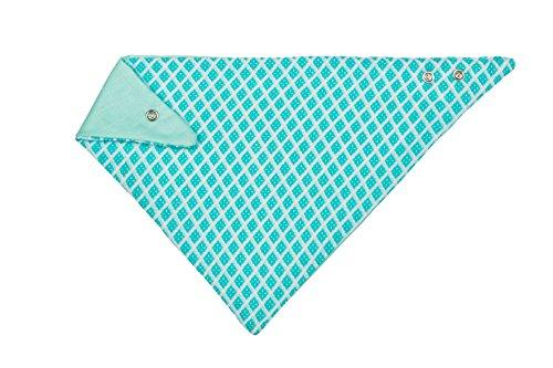 LÄSSIG Baby Kinder Muslin Bandana Lätzchen Baumwolle Druckknopf saugfähig doppellagig beidseitig tragbar/Bandana Bib Diamonds
