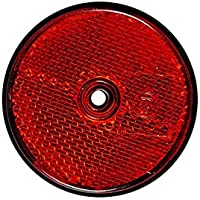 Reflecteur Signalisation Remorque Caravane - VISSER - Rond 60mm - ROUGE