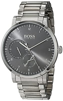 Hugo BOSS Unisex-Adult Multi dial Quartz Watch with Stainless Steel Strap 1513596