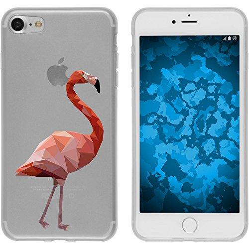 PhoneNatic Case für Apple iPhone 7 Silikon-Hülle Vektor Tiere M5 Case iPhone 7 Tasche + 2 Schutzfolien Motiv 02