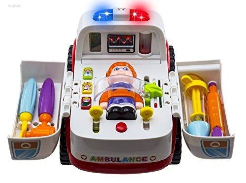Rettungswagen Krankenwagens mit medizinische Geräte, Licht, Sound und Musik von Wishtime