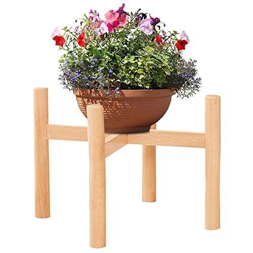 Gereton Europäischen Stil Buche Blume Stehen Holz Einzigen stehender Kreativität Blumentopf Display-ständer Topfpflanzen Montage Für Indoor Outdoor (Blumentopf Ständer Holz)