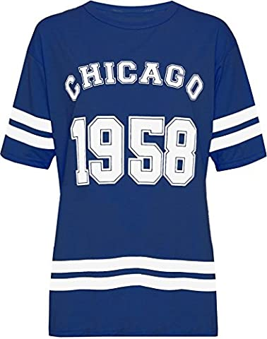 La Dame De Chicago - WEARALL Femmes Plus Chicago 1958 Baseball Haut