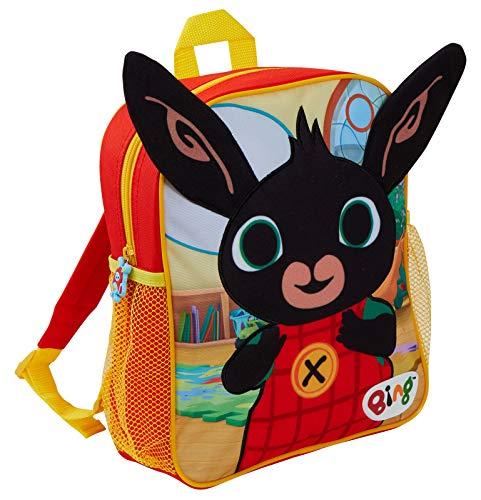 Bing Bunny - Zaino in peluche 3D per bambini e bambine, ideale per la scuola materna, Bing Bunny (Blu) - LBAMZMPN1166