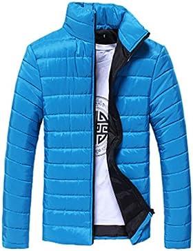 SHOBDW Hombres algodón stand cremallera abrigo de invierno caliente chaqueta gruesa