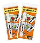 EURO TESTER PEN ® XL - Rilevatore per il Controllo di Banconote False 2 Tester Sconto 30% Funziona su Tutte le Principali...