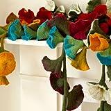 Filz Blumen-Girlande senffarben 160 cm lang