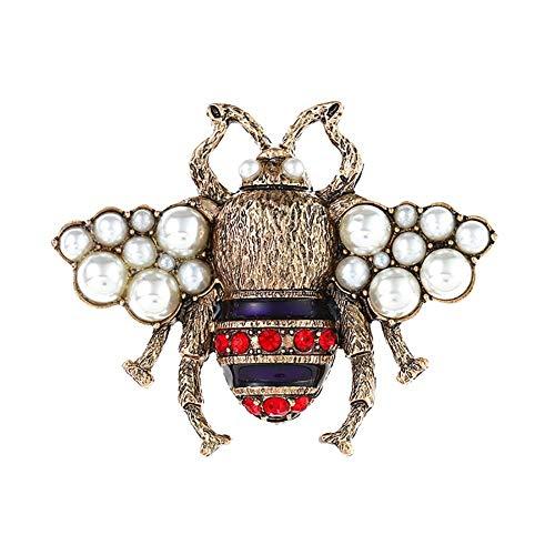 Ogquaton Frauen Nachahmung Perlen Biene Brosche Dreidimensionale Perle Pin 1 STÜCKE Langlebig und nützlich (Anhänger-konverter-kit)